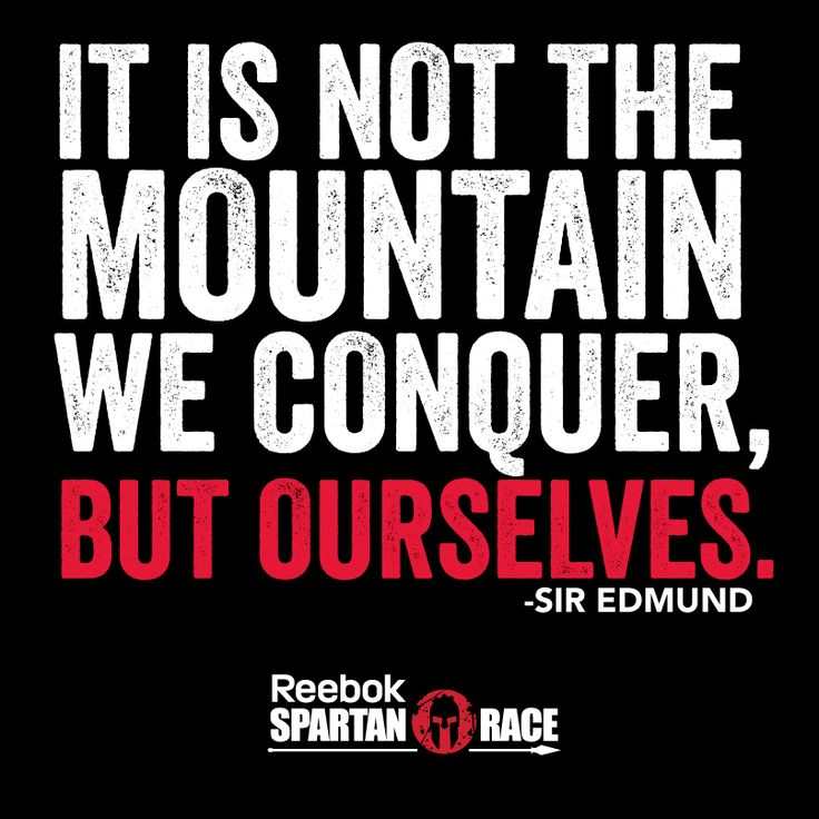 TRUTH! I conquered myself running the beast,  not just the mountain.