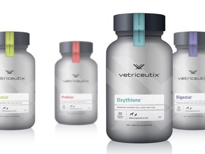 vx product packaging concept for pet supplements by nick brue.