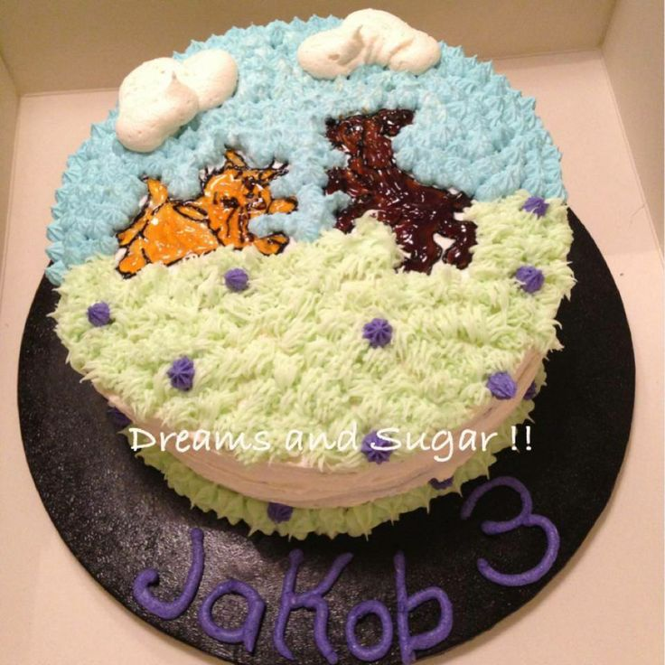 cat and dog cake !