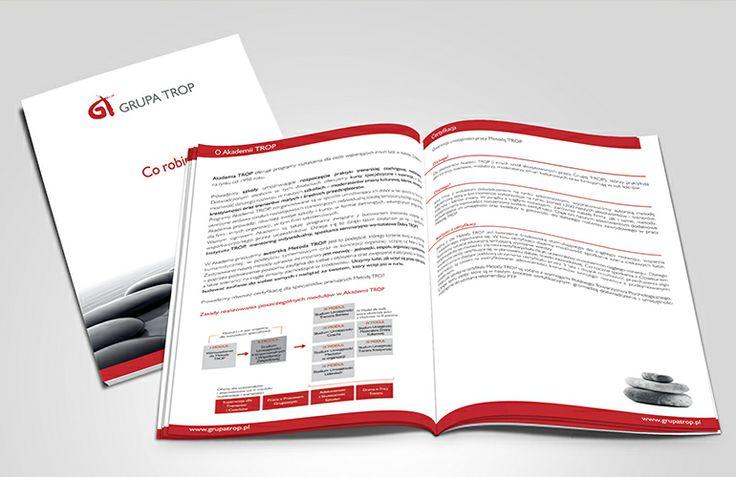 Information folder for promoting Grupa Trop
