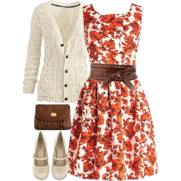 Orange 'n Brown by jamie-burditt on Polyvore featuring Bea & Dot, Fat Face, Call it SPRING, Jessica Simpson, Pieces and plus size dresses