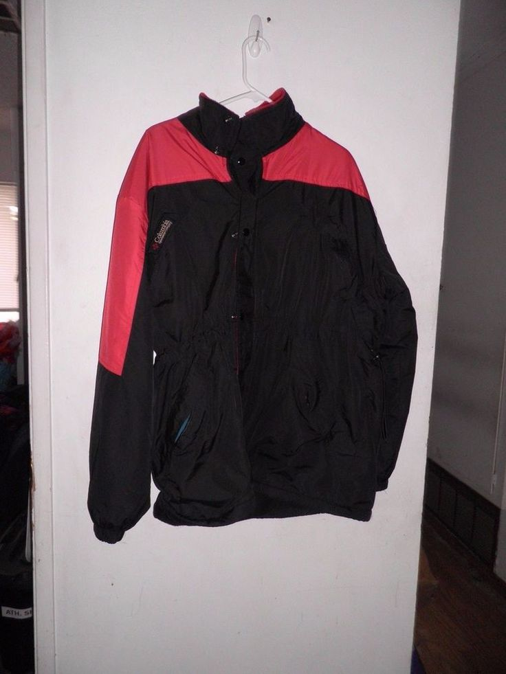 Men's Columbia Fleece Lined Parka Red & Black Size XL #Columbia #Parka
