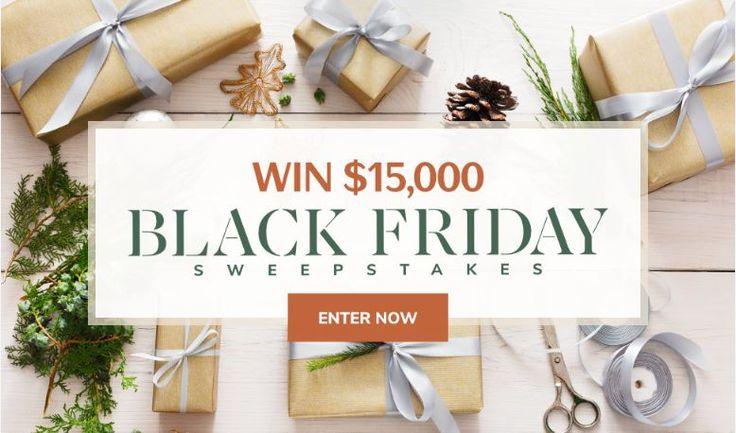 Martha stewart 15000 black friday sweepstakes win