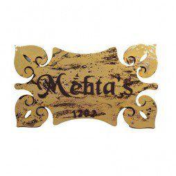 Mehta's Decorative Name Plate
