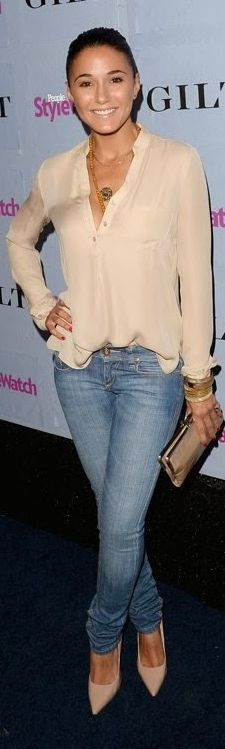 People Stylewatch #denim Awards: Reed Chung Chriqui #jeans + #neutral - Vennie Fashion Online
