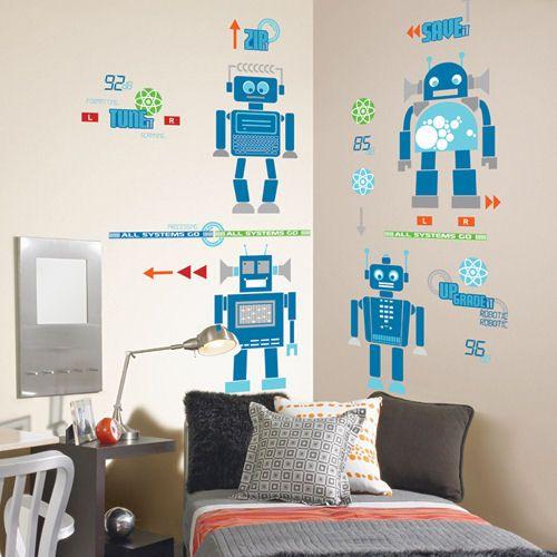 27 best boys room ideas robots images on pinterest for Robot room decor