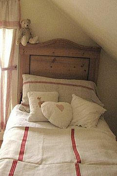 antique linen bedcover.  5 Easy Weekend DIY projects you can  do. Including: a roman shade, bolster, bedcover, shower curtain and wall art. If you love vintage and antique linens, repurpose them. Reuse your old textiles.