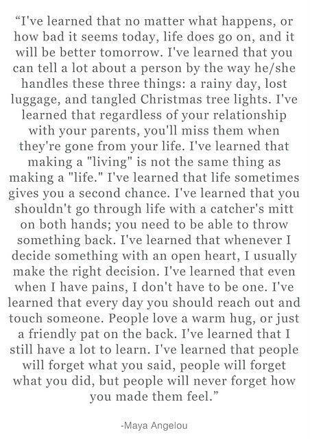 Ive learned