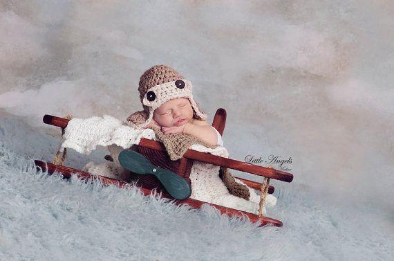 Baby Boy Hat, Crochet Baby Hat, Crochet Baby Boy Hat, Newborn Baby Crochet Hat Boy, Newborn Boy Photo Prop Baby Hat via Etsy