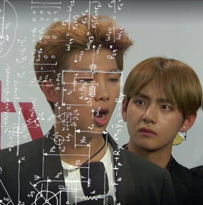 Rm V Bts Bts Funny Bts Face Bts Taehyung