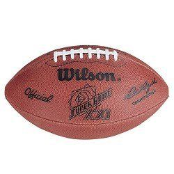 Wilson Sports Super Bowl XXI Official Game Ball Football by Wilson Sports. $59.95. The Wilson Super Bowl XXI Ball of Fame is sure to please the avid collector! Trailing 10-9 at the half, the New York Giants blew the game open with 17 third-quarter points, then added 13 more points to set a Super Bowl record for most scoring in a half. MVP Phil Simms set two records by completing 10 consecutive passes and compiling an 88.0 percentage with 22 completions in 25 attempts. The t...