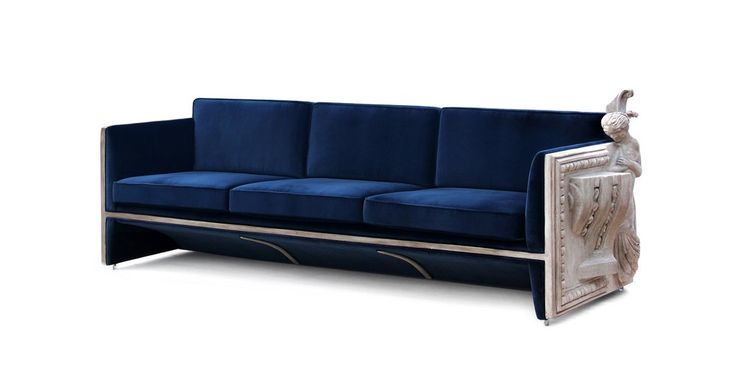 The Versailles Sofa opens the way to freedom and the need of bringing extravagant creations to life. | www.bocadolobo.com #bocadolobo #luxuryfurniture #exclusivedesign #interiordesign #designideas #contemporarylivingroom #contemporarysofa #versailles