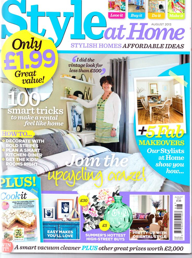 We are delighted to be featured in Augusts edition of Style at Home magazine with our Patersonrose Wills Star Storage Bag - check this out at http://www.simplyrooms.co.uk/