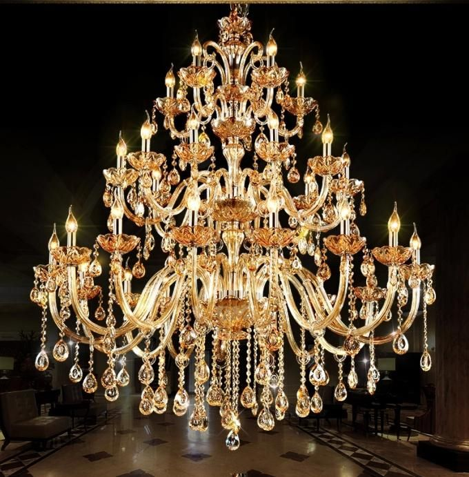 Unusual Big Chandeliers For Hotel Project Lighting Chandelier Crystalcha Crystal Chandelier Crystal Lamp Big Chandelier