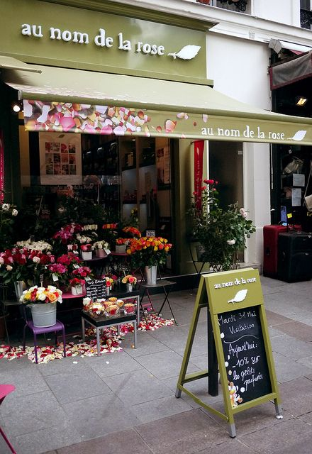Au Nom de la Rose, Paris This was right across the street from our apartment on rue du cherche midi. I bought roses here often - they're gorgeous!