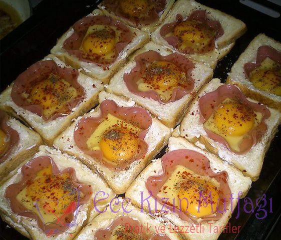 Yumurtalı Salamlı Kahvaltılık Tost Ekmekleri | Ece Kızın Mutfağı