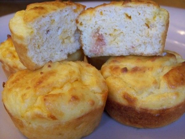 Bacon Egg & Cheese Breakfast Muffins (Gluten Free) - Low carb recipes suitable for all low carb diets - Sugar-Free Low Carb Recipes