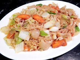 KARIZÓNA - VEGANSKÉ RECEPTY: Čínské rýžové nudle se zeleninou
