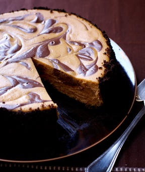 on my radar for Thanksgiving!! Recipe for Swirled Pumpkin & Chocolate Cheescake from Nov issue of Woman's Day
