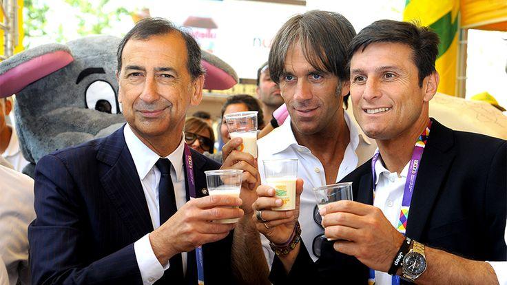 Xavier Zanetti  e Giuseppe Sala #raiexpo #expo2015 #milan #italy #xavierzanetti #fcinter #football #soccer #giuseppesala