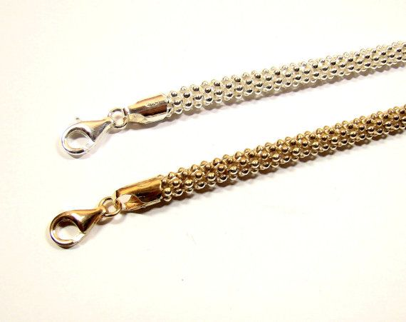POPCORN  GOLD&SILVER chain 6mm   length to choose by DawidPandel