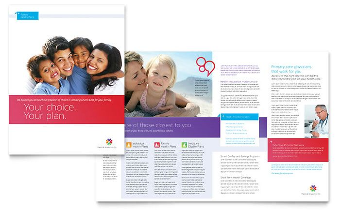 Medical Insurance Brochure Template Design By Stocklayouts