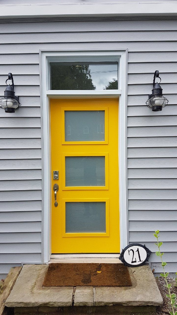 The Old Entry Door Was Replaced With A Brilliant Bold Bright