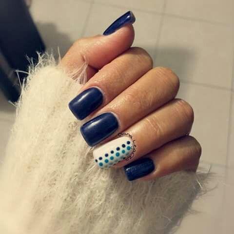 Nails Uñas Hermosas, Uñas Azul Marino, Diseños Hermosos, Uñas Azules,  Diseños De Uñas, Puro Gelish, Tendencia, Manualidades, Peinados