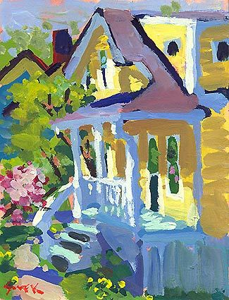 """Love the light in this painting """"Back Porch Buds"""" - acrylic by ©Charles Sovek - www.sovek.com/gallery/recent/exhibitions/2007maydays/02.htm"""