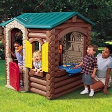 Plastic+Playhouses | Little Tikes Log Cabin Playhouse pic.