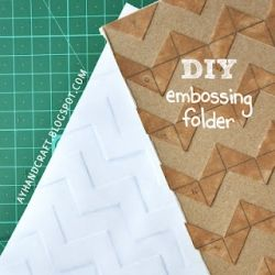 Tutorial step by step on how to make your embossing folder from cereal cardboard!