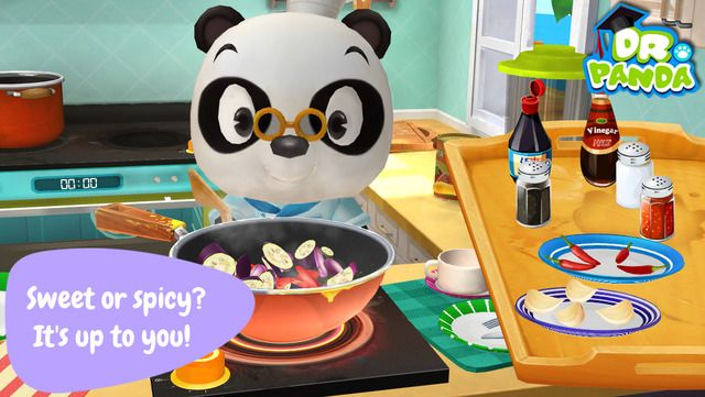 Dr. Panda's Restaurant 2: Create and serve dishes of your own to your customers