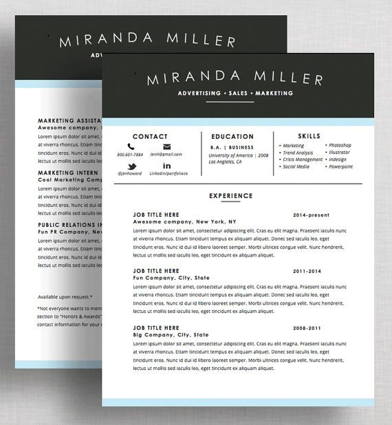 graphic designer cv template