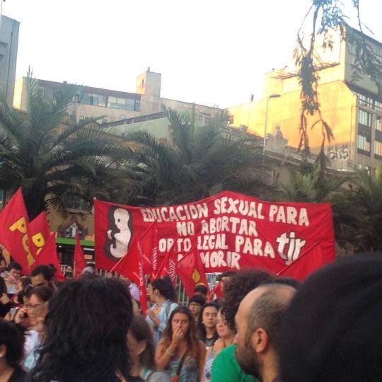 Así va la marcha, #Santiago #Chile (en Plaza Italia)
