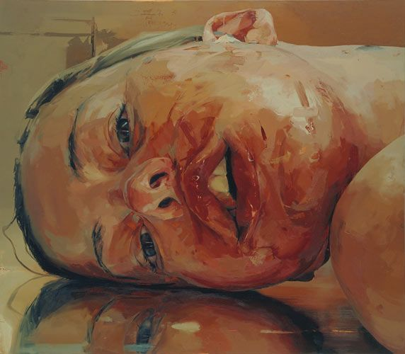 detail from Jenny Saville's Reverse, 2002-20. Oil on canvas