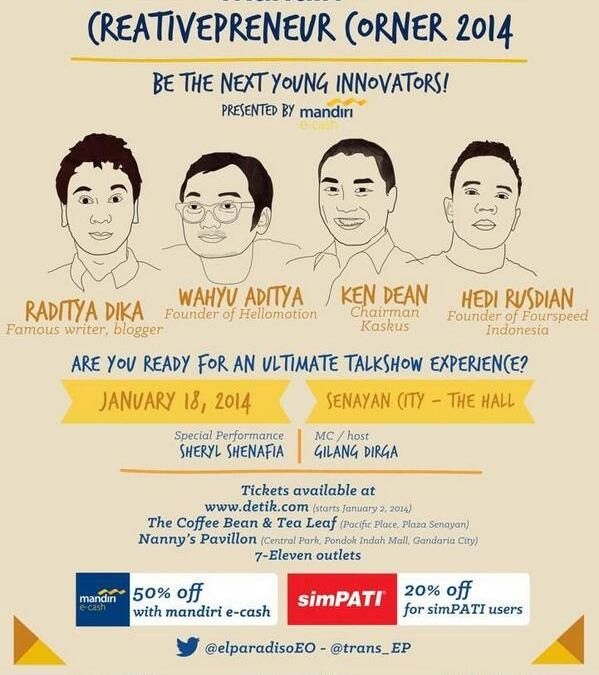 "Cretivepreneur Corner 2014 ""Be The Next Young Innovators!"""
