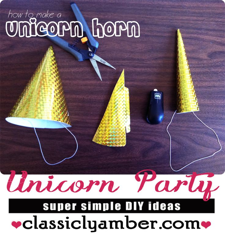 how to make a unicorn horn for your girl's birthday party