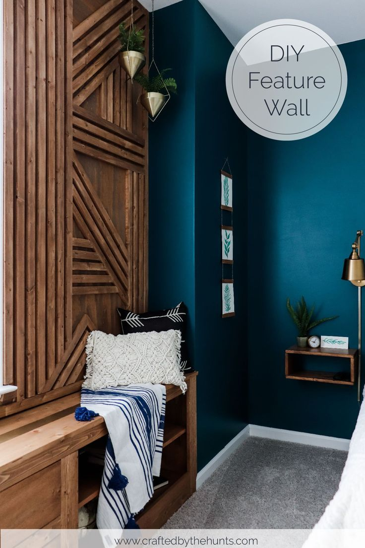 Make The Coolest Wood Accent Wall This Weekend In 2020 Bedroom Wall Accent Wall Bedroom Wood Accent Wall