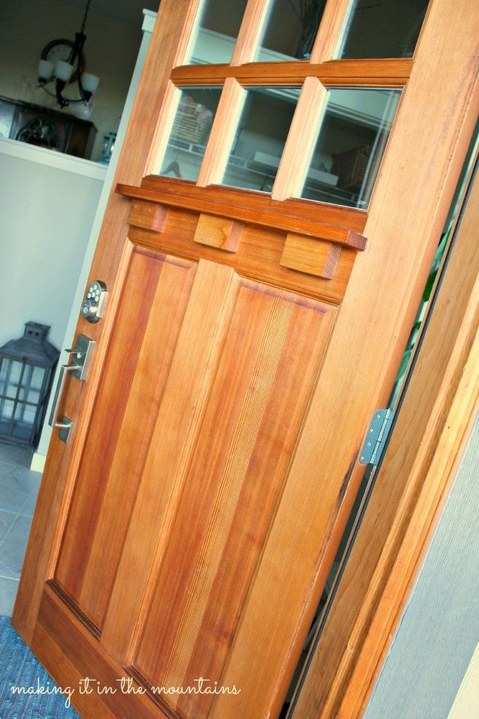 How we gave our craftsman style front door a makeover with Danish Oil.