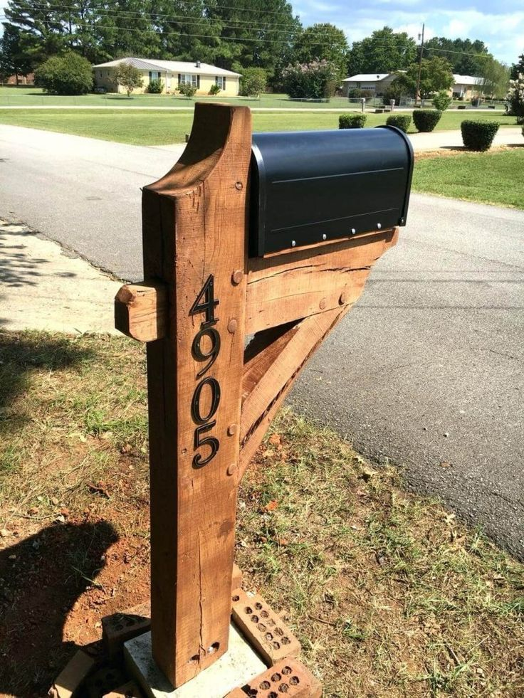 17 Diy Mailbox Ideas Are Sure To Promote The Appeal Diy Mailbox Wooden Mailbox Mailbox Landscaping