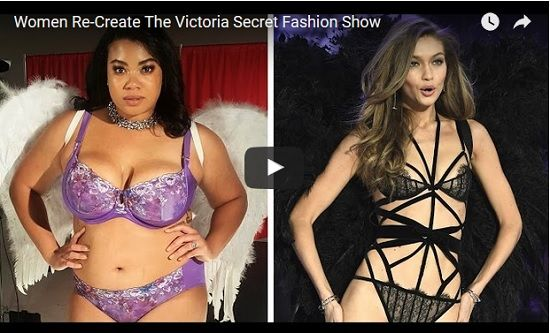 Mujeres curvilíneas recrean desfile de Victoria's Secret (VIDEO) - http://www.esnoticiaveracruz.com/mujeres-curvilineas-recrean-desfile-de-victorias-secret-video/