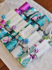this and that: homemade christmas crackers tutorial. I like the name tag idea so that you can personalize the content.