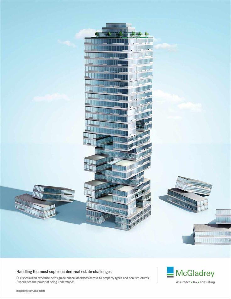 creative real estate ad. mcgladrey jenga creative advertisingadvertising agencyreal estate real ad