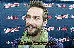 """The time Tom accidently gave away a spoiler about Ichabod's clothing.   Community Post: 20 Times The Cast Of """"Sleepy Hollow"""" Proved They Are Utterly Adorable"""