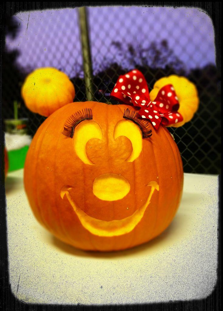 Minnie Mouse Pumpkin
