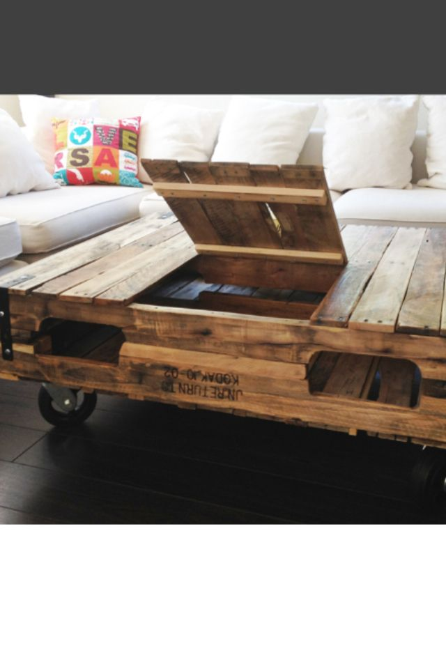 Pallet Coffee Table With Storage Tool Projects