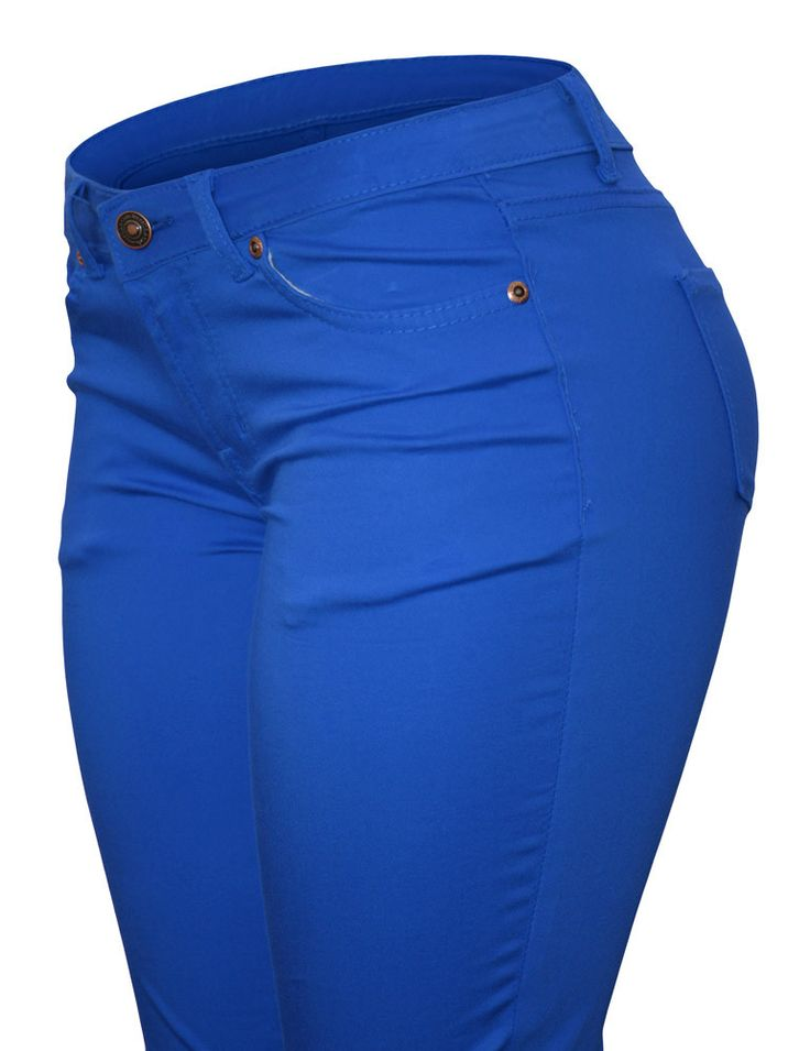 Cielo Mid-Rise Skinny Colored Jeans Royal Blue 7070 - 12 Pcs