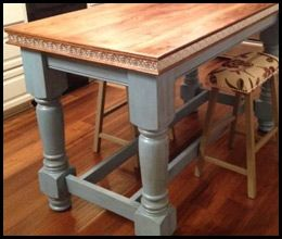 Unfinished Wooden Island Legs Husky Kitchen Island Legs