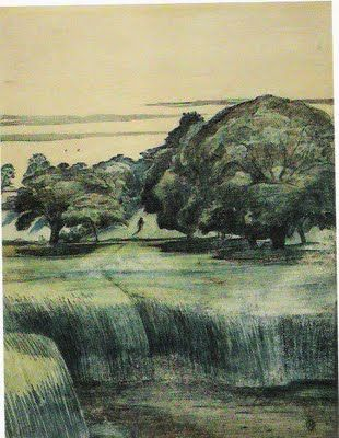 'The Wanderer' (1911) by English artist Paul Nash (1889-1946). via James Russell on the web