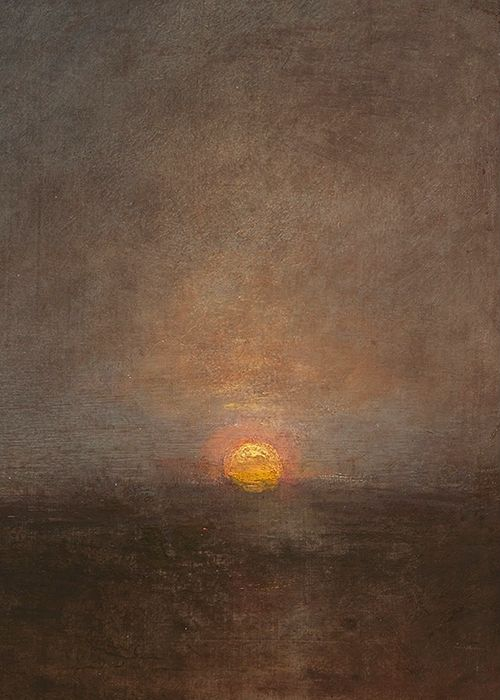 J. M. W. Turner, Staffa, Fingal's Cave (detail), 1832  Turner quoted on his death bed: 'The sun is God'